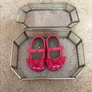 Kate Spade Pink and Red Bow Mary Janes - Like New!